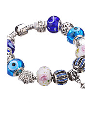 Women Strand Beads BraceletsBeads Bracelet  Crystal Bead Charm Bracelet Fit Original glass Bracelet  #YMGP1034 Christmas Gifts