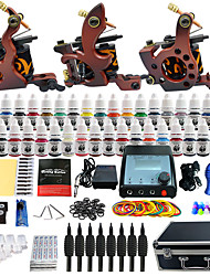 abordables -Solong Tattoo Machine à tatouer Kit de tatouage professionnel - 3 pcs Machines de tatouage, Professionnel LCD alimentation Case Not Included 3 machine x tatouage en alliage pour la doublure et