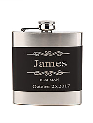 cheap -Stainless Steel Hip Flasks Bride Groom Bridesmaid Groomsman Couple Parents Wedding Birthday Valentine