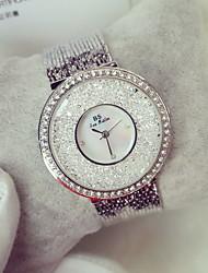 Недорогие -Жен. Модные часы Повседневные часы Часы с незакрепленными камнями Кварцевый Японский кварц Повседневные часы Фосфоресцирующий Нержавеющая