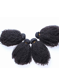 "3Pcs/Lot 10""-26"" Brazilian Virgin Hair Afro Kinky Curly Human Hair Weave Extensions"