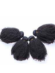 Недорогие -Бразильские волосы Классика Кудрявое плетение Афро Кудрявый вьющиеся Ткет человеческих волос 3 предмета Высокое качество Горячая