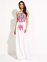 Women's Loose Printing Sleeveless Long Dress