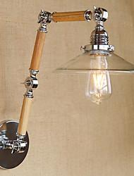 e27 4w 110V-130V sezione 220V-240V 3 semplice vetro trasparente regolabile in legno ha portato a parete