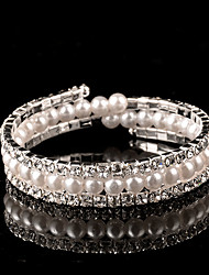 Women's Persona Beads Collection Bracelet Silver / Imitation Pearl Imitation Pearl / Rhinestone