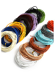 cheap -Beadia 5Mts 1.5mm Round Leather Cord & Wire & String (14 Colors)