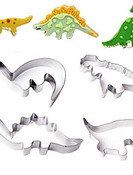 cheap -Stainless Steel Dinosaur Cookie Cutter Mold Cake Fondant Biscuit Baking Mould,Set of 4