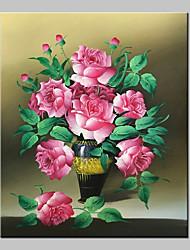 Pittura ad olio dipinto a mano su tela di fiori moderna immagine astratta di arte astratta con telaio allungato pronto a appendere