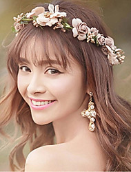 Bride's Flower Rhinestone Forehead Wedding Hair Accessories Headbands 1 PC