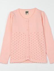 preiswerte -Mädchen Bluse-Lässig/Alltäglich einfarbig Baumwolle Herbst Rosa / Lila / Weiß