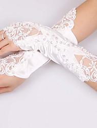 Ellenbogen Länge Ohne Finger Handschuh Polyester Brauthandschuhe Party / Abendhandschuhe Frühling Sommer Herbst Winter Pailletten Spitze