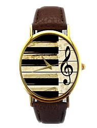 Men's Fashion Watch Quartz Chronograph PU Band Sparkle Black White Brown Pink Beige