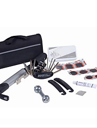 cheap -Bicycle Tire Repair Kits 15 in 1 Cycling Bicycle Tools Bike Repair Kit Set with Pouch Pump Black