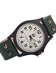 Herren Kleideruhr Japanischer Quartz Armbanduhren für den Alltag Leder Band Schwarz Weiß Braun Mehrfarbig Marke