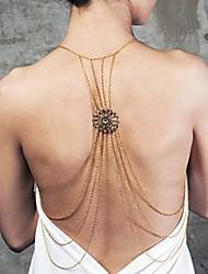 abordables -Chapado en Oro Cinturones metálicos / collar arnés / Para Cuerpo - Mujer Dorado Lujo / Sensual / Multi capa Joyería Corporal Para Diario