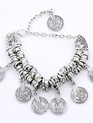 abordables -Femme Charmes pour Bracelets Mode Alliage Forme de Cercle Bijoux Quotidien Bijoux de fantaisie Or Argent