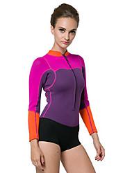 cheap -SBART Women's Wetsuit Top Thermal / Warm, Full Body, Compression Tactel / Neoprene Long Sleeve Beach Wear Top Snorkeling / Diving