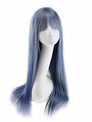 cheap -Women Synthetic Wig Straight Brown Blue Silver grey Cosplay Wig Costume Wig