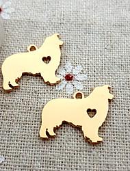 20pcs колли ожерелье памятный подарок собаки шарма для поделок изготовления ювелирных изделий