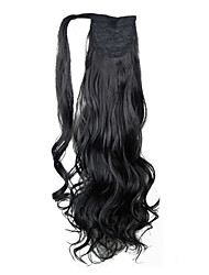 cheap -Curly Ponytails Synthetic Hair Piece Hair Extension Black Daily