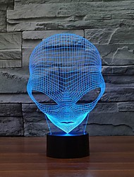 Unique 3D Special Alien Shape LED Table Lamp with USB Power Color-Changing Night Light