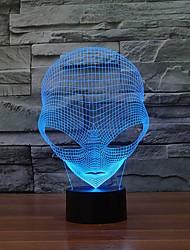 USB電源変色夜の光と独自の3D特別なエイリアンの形状主導テーブルランプ