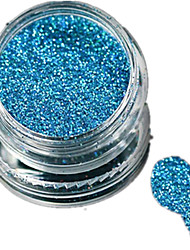cheap -1 Bottle Nail Art Laser Sky-blue Glitter Shining Powder Manicure Makeup Decoration Nail Beauty L16