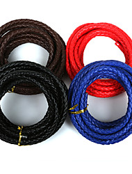 cheap -Beadia 7mm Round PU Leather Cord For DIY Jewelry Necklace Bracelet Craft Making(3Mts)
