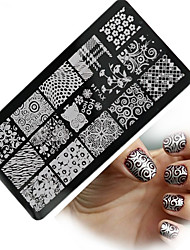 1pcs  New Nail Art Stamping Plates Colorful Image Templates Tools Nail Beauty XY-J14