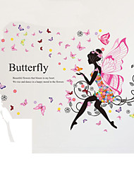 Wings Butterfly Girl Living Room Bedroom Wall Stickers Can Be Removed