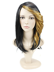 deux tons construction cap des vagues de couleur des cheveux style européen cheveux synthétiques perruque