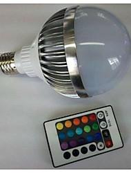 baratos -700-900 lm E26 / E27 Lâmpada Redonda LED G80 1 Contas LED LED de Alta Potência Controle Remoto RGB 85-265 V / 1 pç