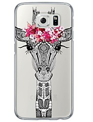 economico -Per Samsung Galaxy S7 Edge Transparente / Fantasia/disegno Custodia Custodia posteriore Custodia Con animale Morbido TPU SamsungS7 edge /