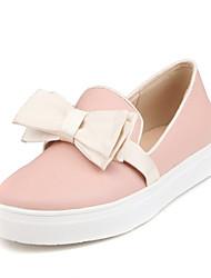 Недорогие -Синий / Розовый / Белый-Женская обувь-Для прогулок / Для праздника / На каждый день / Для занятий спортом-Дерматин-На плоской подошве-