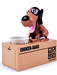 cheap -Choken Bako Bank Coin Bank Stealing Coin Bank Saving Money Box Case Piggy Bank Robot Dog Toys Novelty Dog ABS 1 Pieces Kid's Adults'