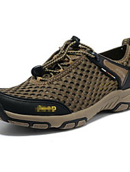 cheap -Men's Hiking Shoes Rubber Hiking / Backcountry Anti-Slip, Anti-Shake / Damping Breathable Mesh / Polyester Brown