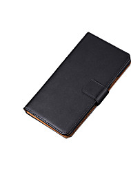 cheap -Case For Samsung Galaxy Samsung Galaxy Case Card Holder Flip Full Body Cases Solid Color Genuine Leather for S7 edge S7 S6 edge plus S6