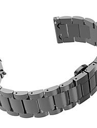 baratos -Preta / Rose / Dourada / Prateada Aço Inoxidável Metal stainless steel Pulseira Esportiva Para Samsung Galaxy Assistir 20 milímetros