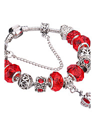 cheap -Silver Plated Glass Bead Bracelet #YMGP1010