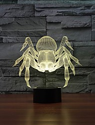 Amazing 3D Illusion Table Lamp Night Light with Diamond Ring Shape with 7 Color Light Color-Changing Night Light