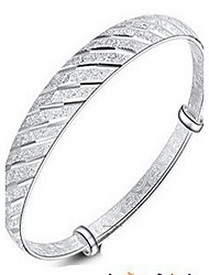 cheap -S925 Silver Flower  Bangle Bracelet