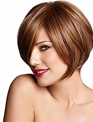 Bob Straight Synthetic Wigs European and American Fashion High Temperature Hair Wig Hot Sale