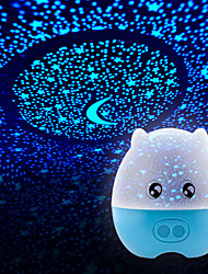 1pc Battery Stochastic Pattern  Night Light Lamp Domestic Projector Lamps  Starry Sky Brilliant Night-Light
