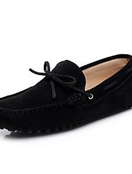 Недорогие -Муж. Обувь для вождения Кожа Весна / Лето Удобная обувь Мокасины и Свитер Ноль Ноль Кофейный / Тёмно-синий / Вино