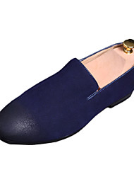 Men's Shoes Fleece Summer Comfort Loafers & Slip-Ons For Casual Black Gray Blue