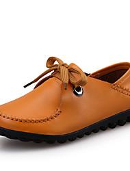 Ženske cipele-Oksfordice-Ležerne prilike-Koža-Ravna potpetica-Udobne cipele-Crna / Smeđa / Žuta