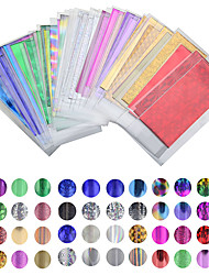 cheap -50 sheet of 35 cm * 4 cm Color Mixing Transfer Foil Nail Art Star Design Stickers