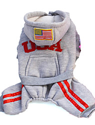 Dog Hoodie Red / Black / Gray / Rose Dog Clothes Spring/Fall American/USA