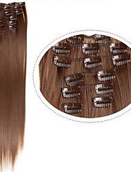 "22""(60cm) 7pcs #60 Blonde Clip in Hair Extensions Long Blonde Hair Fiber Synthetic Hair Blonde Hair Extention"