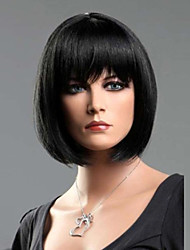 Black Straight Fashion Woman's Short BOB Wig Synthetic Wigs
